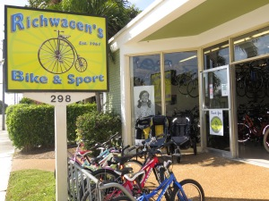 Back in the U.S., I spent the rest of my vacation with my family in Boca Raton and Delray Beach. My dad and I rented bikes from this shop a few blocks from the ocean.