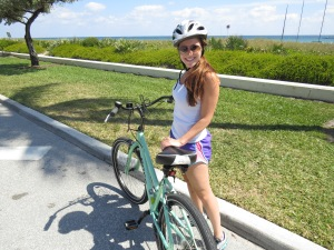 Riding along A1A. Behind me is Delray Beach.